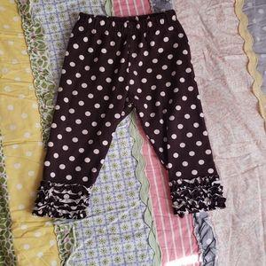Dark brown polka dot persnickety ruffle bottoms
